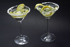 Free Martini With Sugar Crust, Lemon And Peels Royalty Free Stock Photos - 4997268