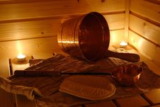 Free Interior Of A Finnish Sauna Stock Photos - 4997323
