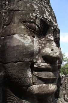 Bayon Temple - Angkor Complex Royalty Free Stock Photo