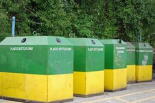 Free Recycling Bins Royalty Free Stock Photography - 4997967