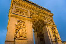 Free Arc De Triomphe, Paris, France Stock Images - 4998484