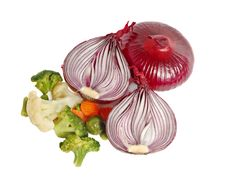 Free Spanish Red Onion And Different Vegetables Royalty Free Stock Images - 4998489