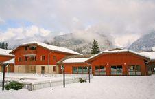Winter Alpine Cottage Royalty Free Stock Photo