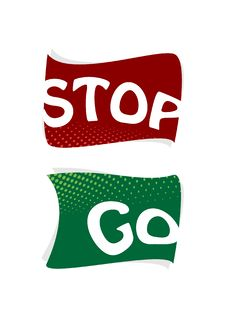 Stop And Go Signs. Vector Stock Photography