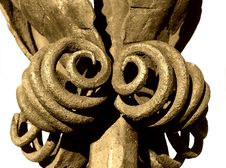 Free Old Iron Ornamen, Isolated Royalty Free Stock Images - 50909