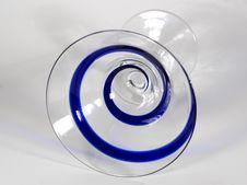 Blue Swirl Martini Glass Stock Image