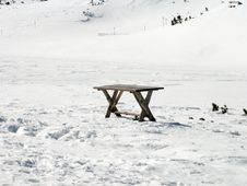 Free Table In Snow Stock Photo - 52970