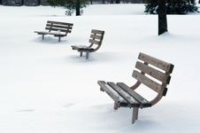 Free Benches In Snow Stock Images - 55144