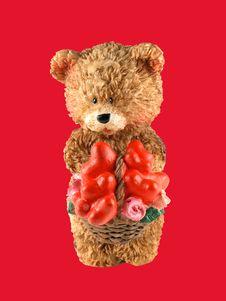 Free Valentine Bear Cub Royalty Free Stock Photos - 55388