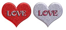 Free Matching  LOVE  Hearts Royalty Free Stock Images - 59349