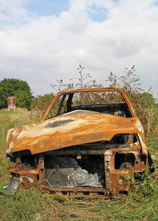 Burnt Out Banger [front View] Stock Image