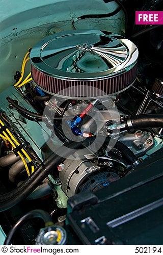 Polished Engine Stock Photo