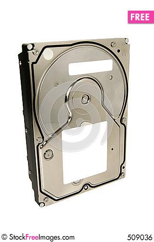 Free Generic Hard Disk Drive With Clipping Path Royalty Free Stock Image - 509036