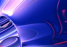 Free Red Wires In Blue Light Royalty Free Stock Images - 500309