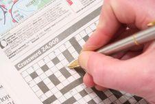 Free Crossword Puzzle Stock Image - 501321
