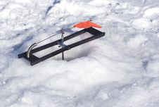 Free Ice Fishing - Tip-Up Royalty Free Stock Images - 501439