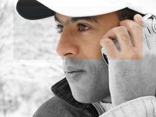 Free Phoning Man Royalty Free Stock Photography - 502587