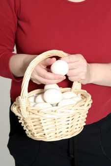 Free Egg Basket Royalty Free Stock Photography - 503517