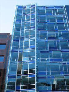 Blue Office Building Stock Images