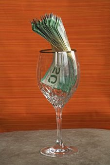 Free Money 033 Bill Cad In Glass Stock Images - 504964