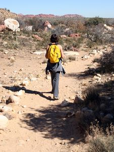 Free Female Desert Hiker Stock Photos - 505543