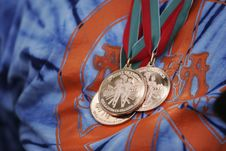 Free Winning Medals Royalty Free Stock Photography - 506877
