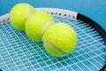 Free Tennis Balls With Racket Stock Photo - 5003490