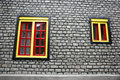 Free Yellow And Red Windows Stock Image - 5004121