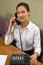 Free Pretty Business Woman On The Phone Stock Image - 5005581