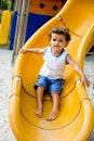 Free Child On Slide Royalty Free Stock Image - 5009906