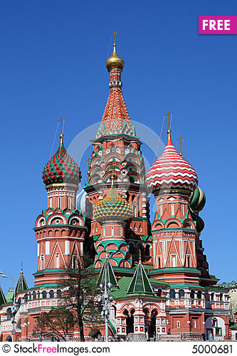 Free The Pokrovsky Cathedral (St. Basil S Cathedral) On Stock Image - 5000681