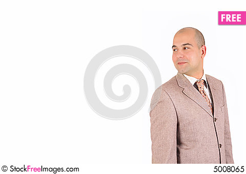 Free A Businessman Happiness Looking Royalty Free Stock Photo - 5008065