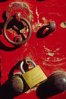 Free Knocker And Lock Stock Image - 5000141