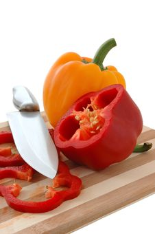 Free Red And Yellow Paprika. Stock Image - 5000451