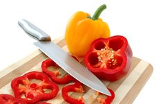 Free Red And Yellow Paprika. Royalty Free Stock Photo - 5000485
