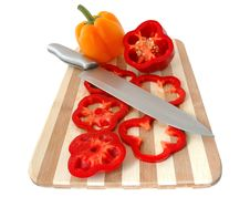 Free Red And Yellow Paprika. Stock Photo - 5000510