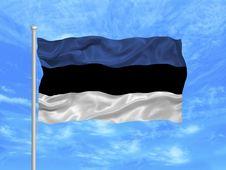 Free Estonia Flag 1 Royalty Free Stock Photos - 5000858