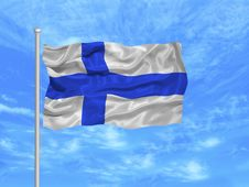 Free Finland Flag 1 Stock Image - 5000861