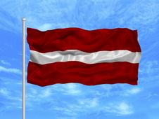 Free Latvia Flag 1 Royalty Free Stock Photo - 5000865