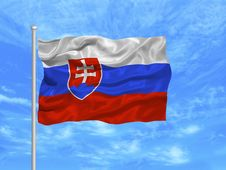 Free Slovakia Flag 1 Stock Images - 5000874