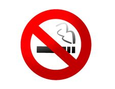 Free No Smoking Sign Vector Royalty Free Stock Images - 5000949