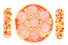 Free Uncooked, Frozen Pizza And Baguettes. Royalty Free Stock Photo - 5001055