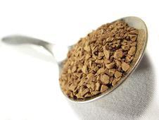 Free Instant Coffee Metal Spoon Closeup 2 Stock Photo - 5001230