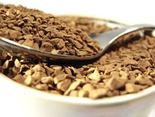 Free Instant Coffee Metal Spoon Closeup Royalty Free Stock Photography - 5001237
