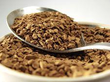 Free Instant Coffee Metal Spoon Closeup Royalty Free Stock Photos - 5001258