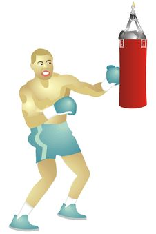 Free Boxer And Punching Bag Stock Images - 5001274