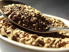 Free Instant Coffee Metal Spoon Closeup 2 Stock Image - 5001291