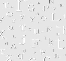 Free Alphabet Background Royalty Free Stock Image - 5001926