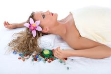 Free Attractive Woman Getting Spa Treatment Stock Photography - 5002462