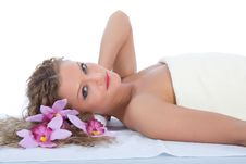 Free Attractive Woman Getting Spa Treatment Stock Photo - 5002490